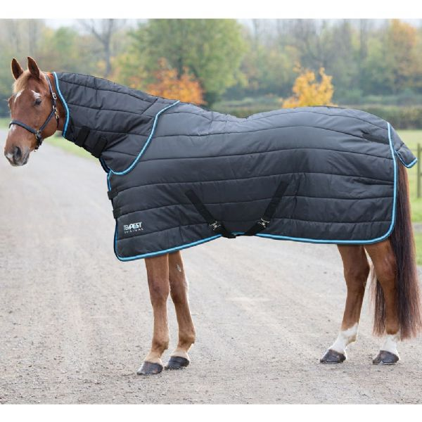 Shires Tempest Original 200 Stable Rug & Neck Set Blk/Turq